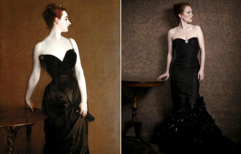 Портреты леди: Джулианна Мур в модных интерпретациях великих картин (11 фото)