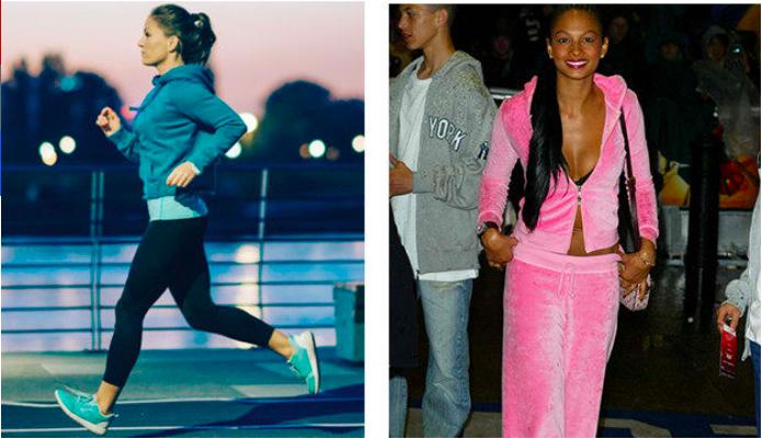 Спортивный костюм Сейчас: удобная одежда для тренировки. Тогда: нечто плюшевое и розовое. В нем можн