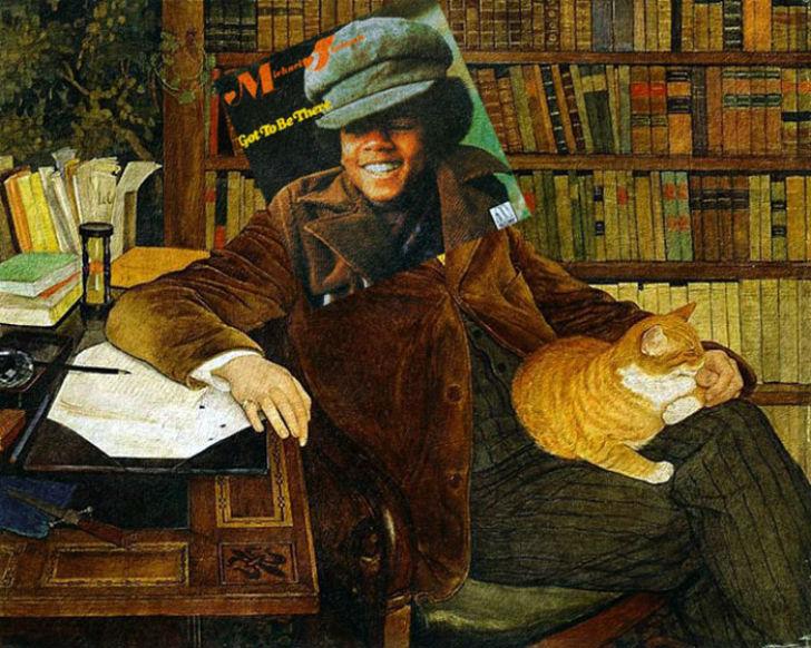 Обложка альбома Майкла Джексона Got to Be There и картина Эрнеста Билера «Портрет Эдуарда Рода».