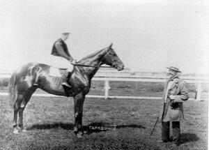 Лошадь Тарквиний, победитель весеннего приза в честь великой княгини Елизаветы Федоровны.