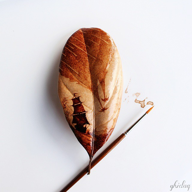 Coffeetopia Leaf Paintings (16 pics)