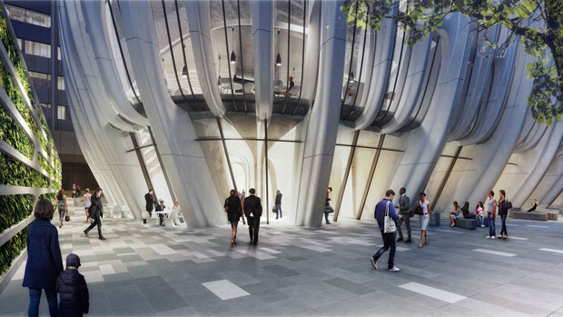 Mandarin Oriental in Melbourne Tower by Zaha Hadid Architects