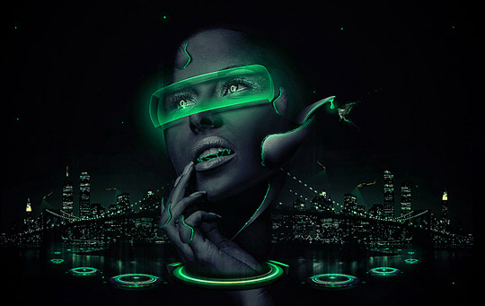 Cyber Worlds Illustrations