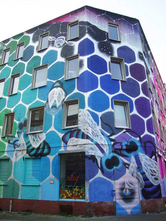 Mural Colorful Honeycomb in Germany