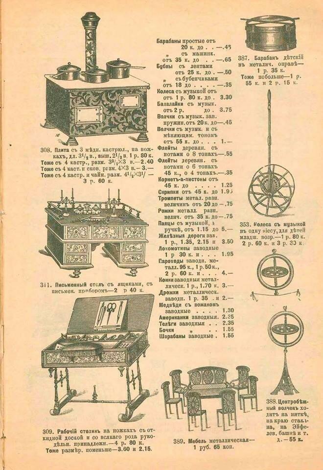 Прейскурант Мюр и Мерилиз 1898 год