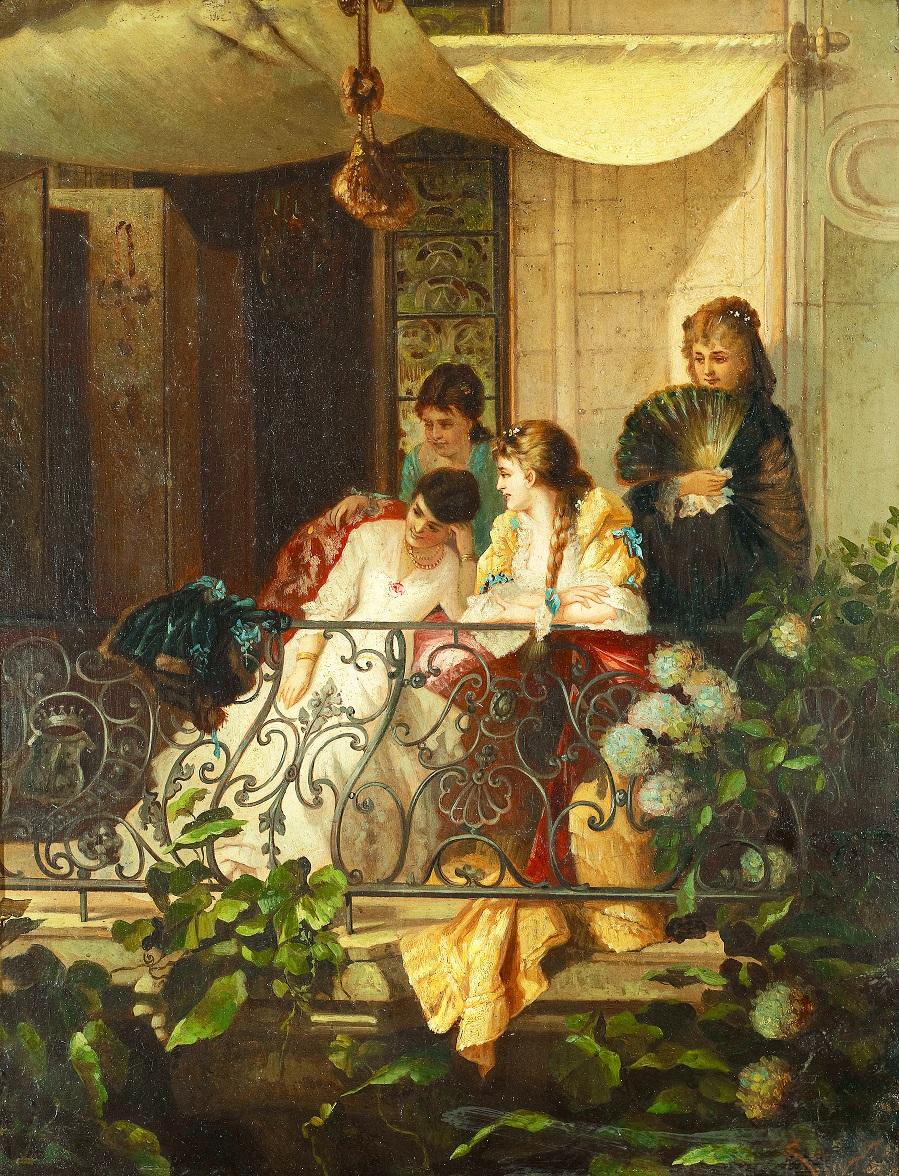 Jeunes Femmes sur un balcon.jpg
