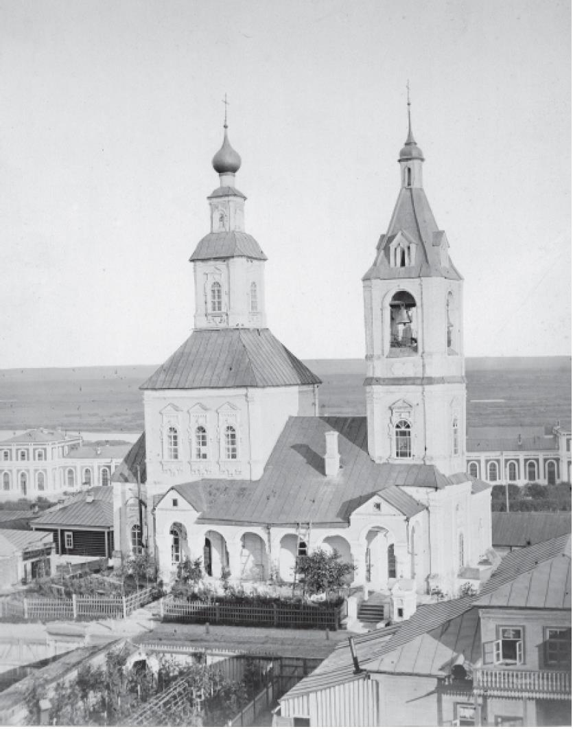 Мироносицкая церковь. Вид с севера, сверху. Кукушкин В.Г. 1876-1881