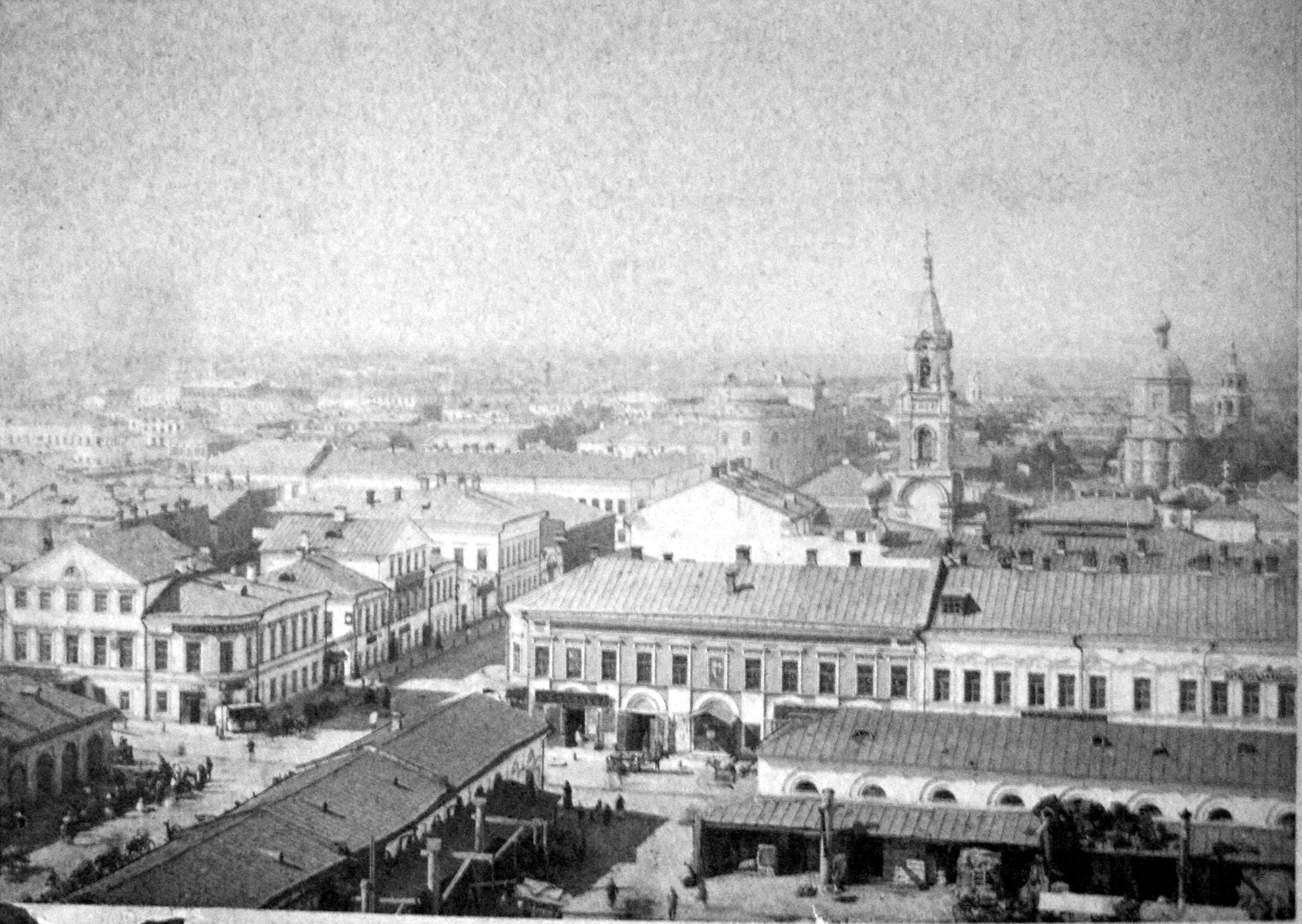 1880-е. Вид на город с гостиницы Дворянского собрания и на улицы Поперечно-Вознесенская и Проломная