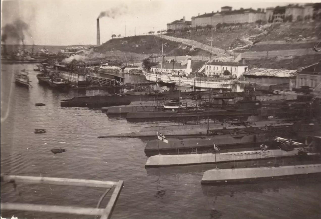 Германские военные корабли в Севастополе. 1918