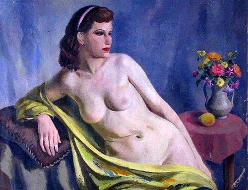 Edmund Brucker (1912 – 1999)  Female Nude