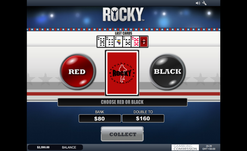 rocky slot double up game