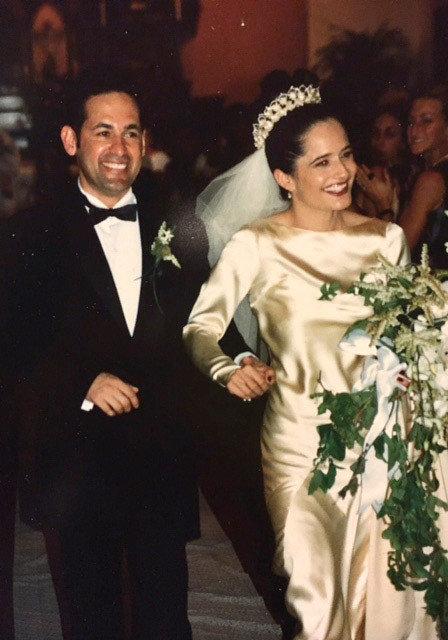 Свадьба Элены и Рика Салинаса в 1997 году.