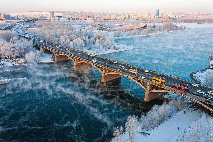 Фотографии Виталия Раскалова и Вадима Махорова :  Приехали мы в Красноярск рано утром, и нас ср