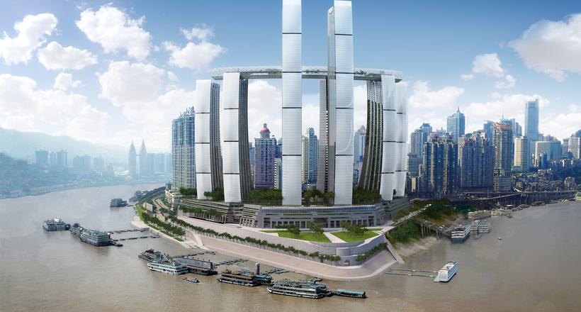 густонаселенный город мира Китай Чунцин