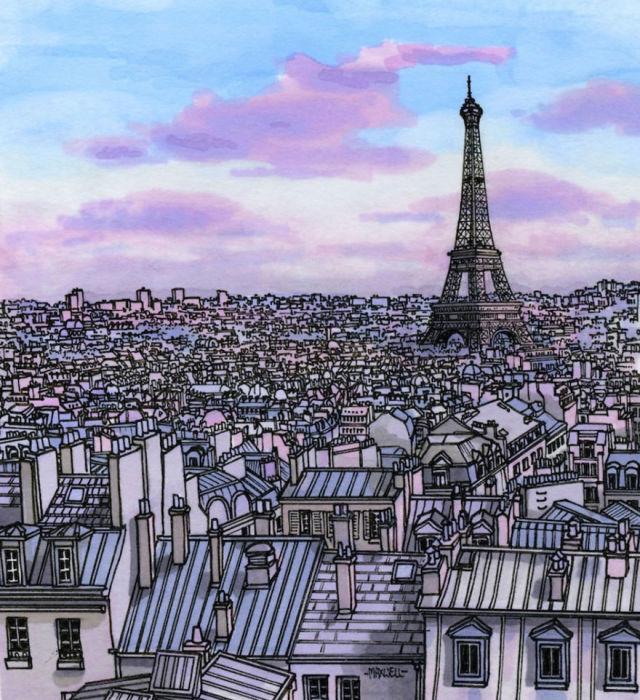 Городские пейзажи со всего мира: 10 зарисовок из альбома художника-путешественника (10 фото)