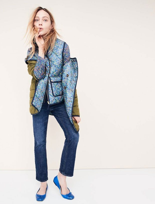Supermodel Sasha Pivovarova Models The New J.Crew Denim Collection