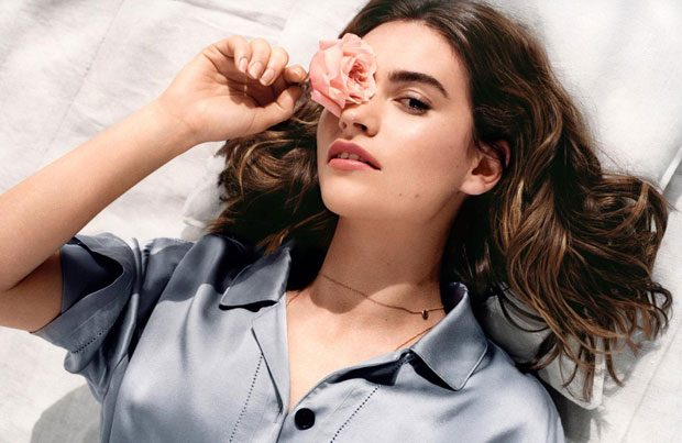 LILY JAMES Becomes The Face of NEW Burberry Fragrance (5 pics)