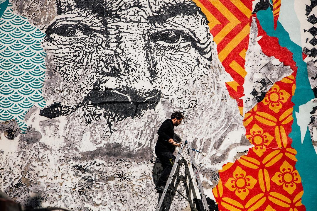 "Streets: Vhils x Shepard Fairey – ""American Dreamers"" (Los Angeles) (8 pics)"