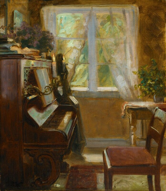 Interior with Wegmann's Piano Bertha Wegmann