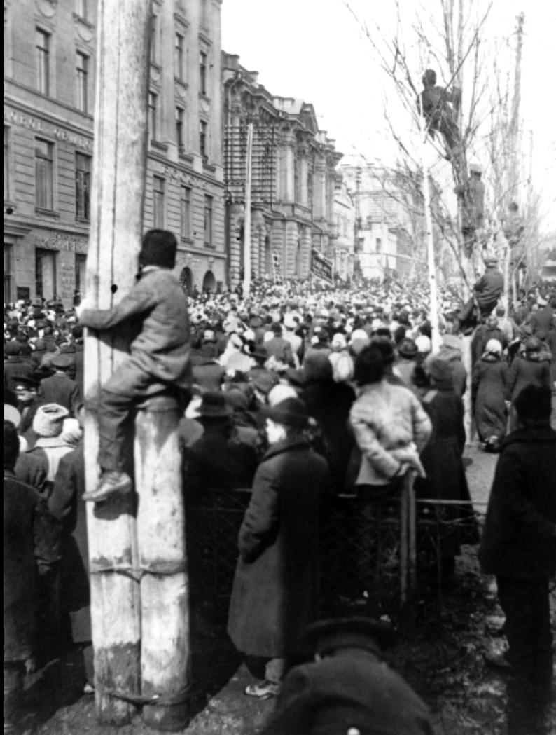 Демонстрация в Иркутске. Март 1917