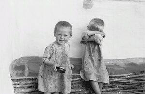 Дети у плетня
