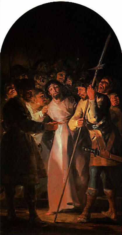Гойя. Взятие Христа под стражу.(ок.1798) The taking of Christ .