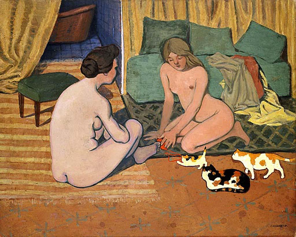 Обнажённые женщины с кошками. ок. 1897 - 1898