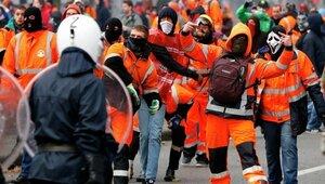 В Брюсселе прошла массовая акция протеста