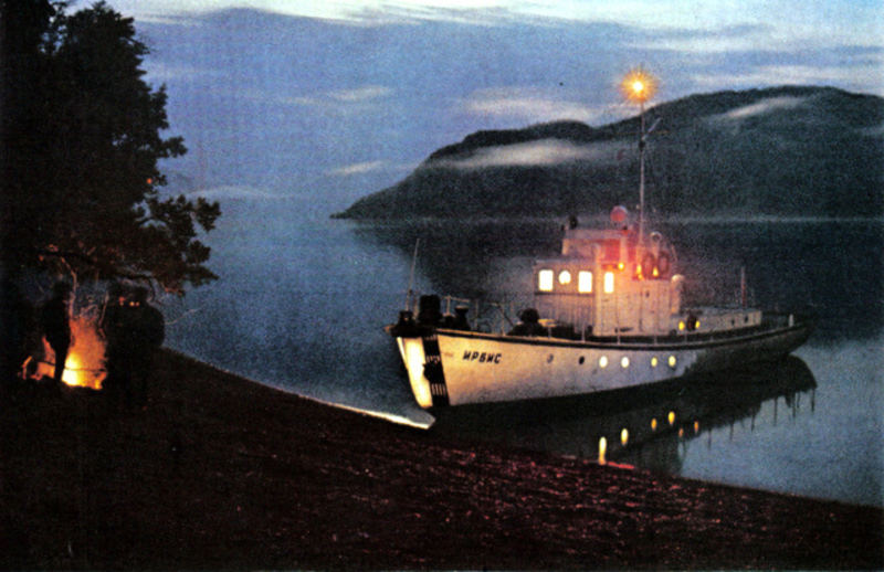 097 На Телецком озере. Из него вытекает река Бия.jpg