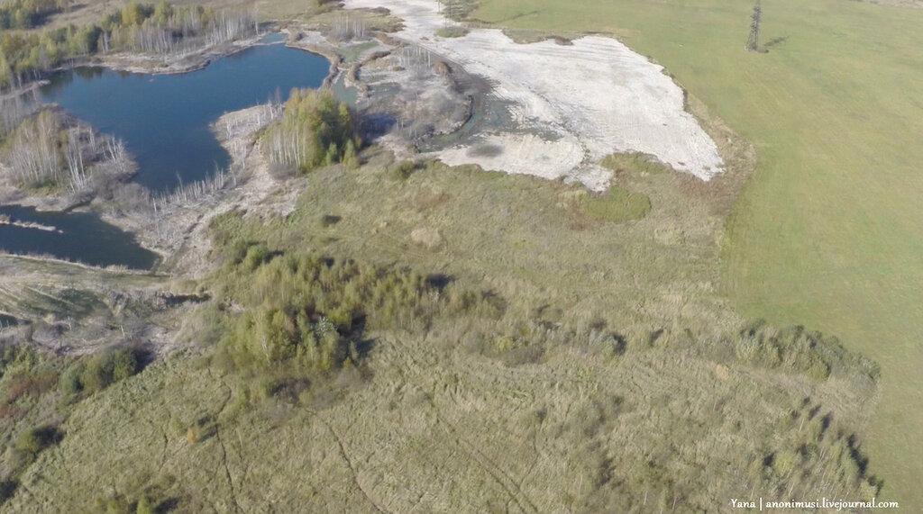Квадрокоптер над Гомельскими Альпами