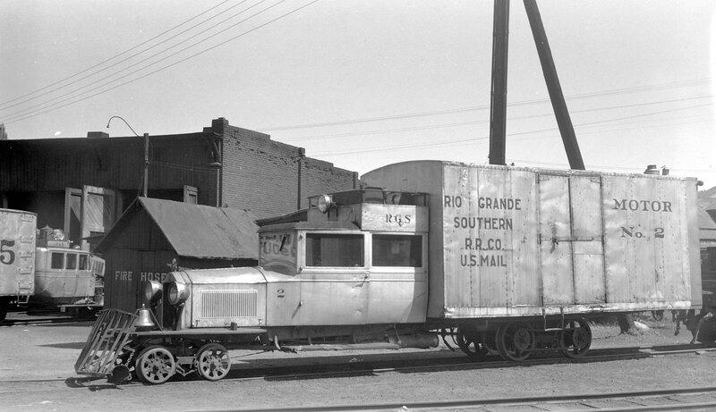 Rio Grande Southern motor car 'Galloping Goose', engine number 2, Durango, Colo., September 6, 1941