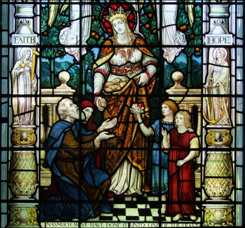 Любовь. Витраж в храме святого Лаврентия (Mereworth, Kent, Великобритания)
