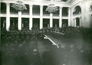 Заседание торгово-промышленного съезда в зале Дворянского собрания. 1906г.