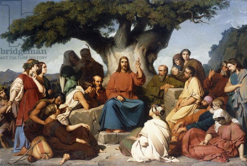 'Surmon de Jesus-Christ sur la Montagne' (Matthew, V), 1844 (oil on canvas)