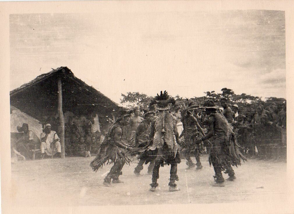 1930. Западная Африка, традиционный танец