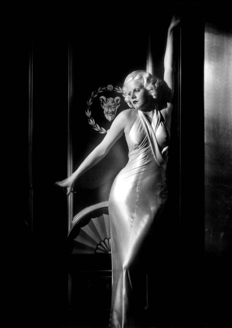 Jean Harlow - by George Hurrell 1933 - Dinner At Eight.