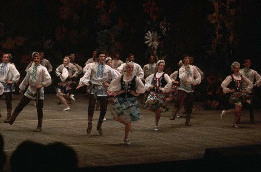 Ансамбль танца БССР. 1972