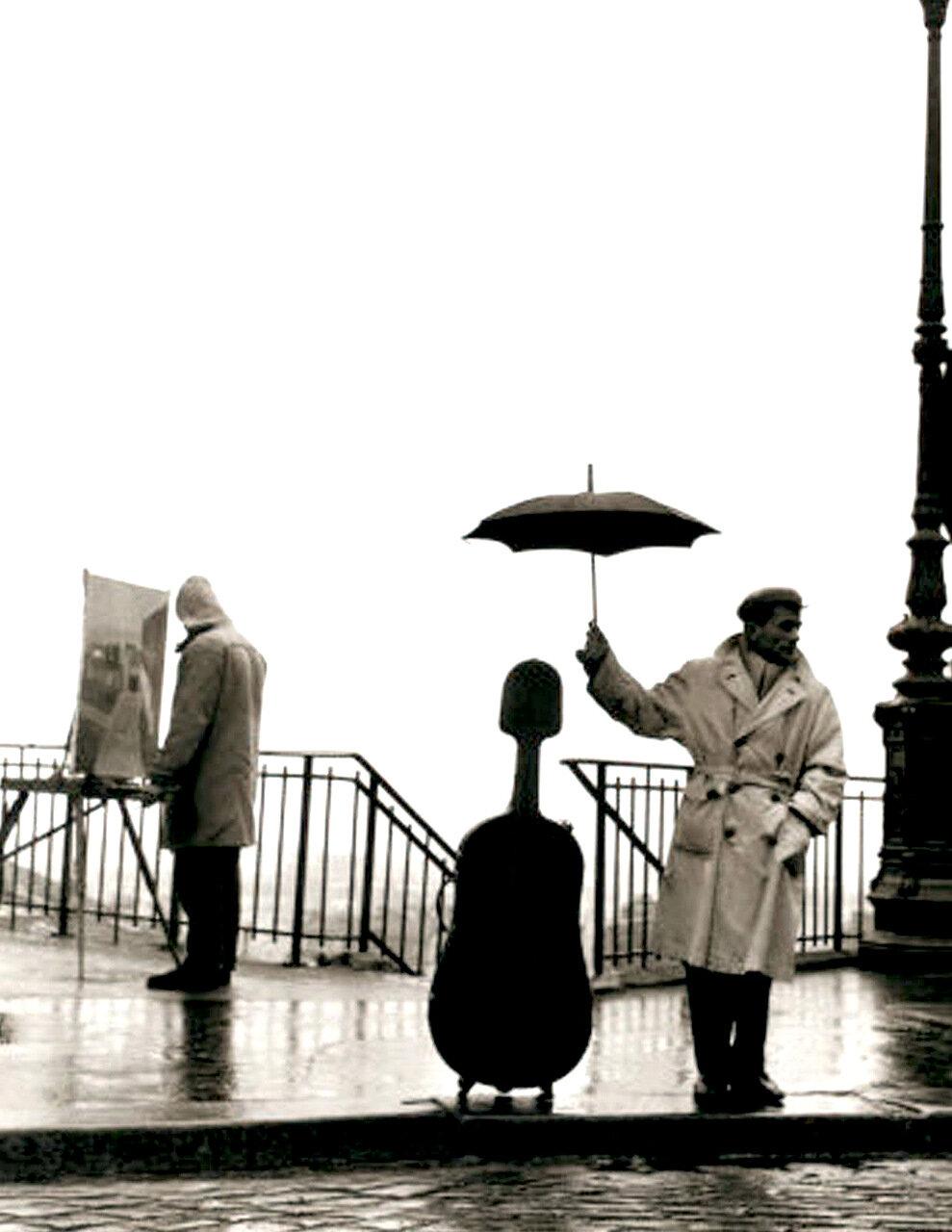 1957. Виолончель в дождь