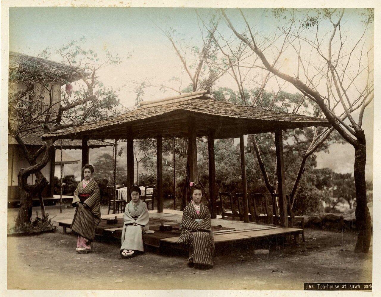 Чайный домик в парке Сува