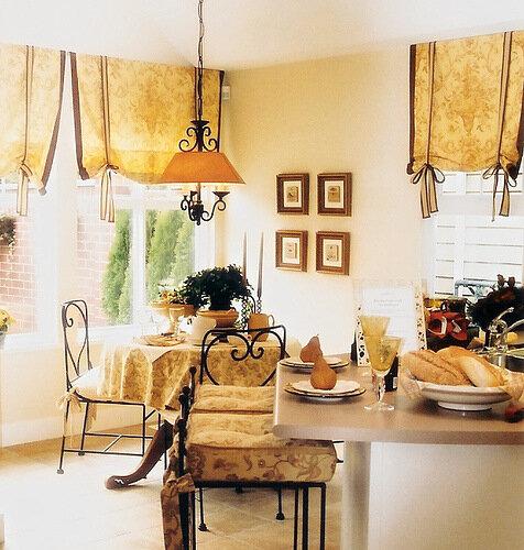 декор кухни текстилем