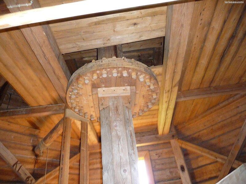 Старинная деревянная ветряная мельница, 19 в.