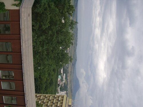 """Вид с веранды отеля """"Горный воздух"""" Железноводск."""