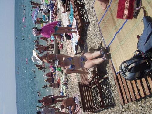 Пляж в Архипо-Осиповке. Черное море.