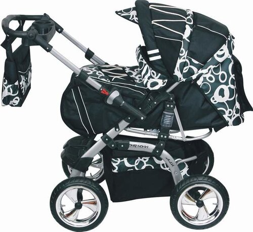 luxus kombi kinderwagen babyschale orion alu 55farben ebay. Black Bedroom Furniture Sets. Home Design Ideas