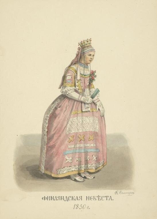 175. Финляндская невеста. 1830.