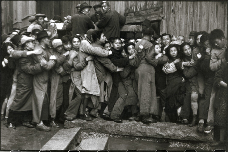 Henri Cartier-Bresson - Shanghai (Run on Bank) Price: $20,000