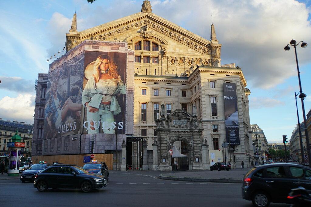 Опера Гарнье - задний фасад