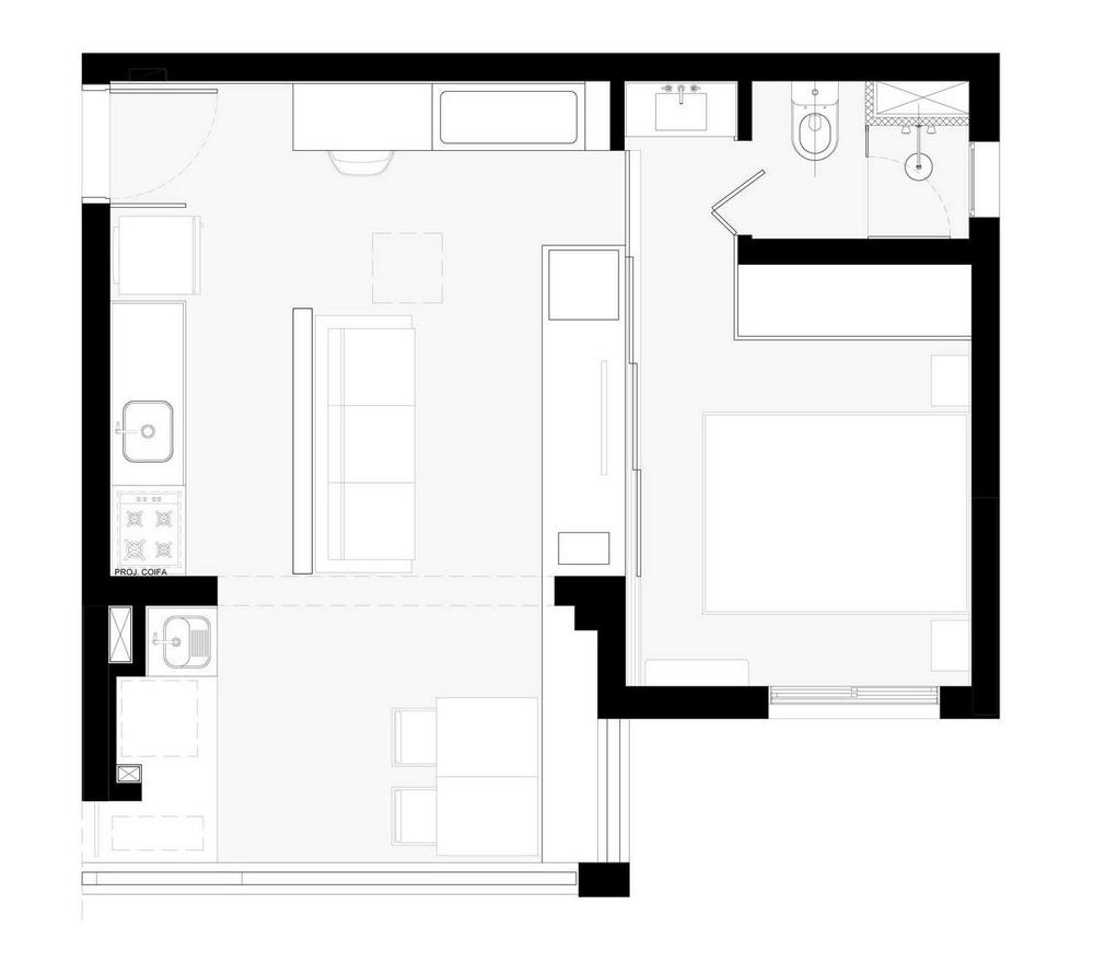 Реконструкция квартиры площадью всего 38 квадратных метров