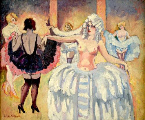 Ludovic Rodo Pissarro (1878 – 1952, French)  Cabaret Dancers