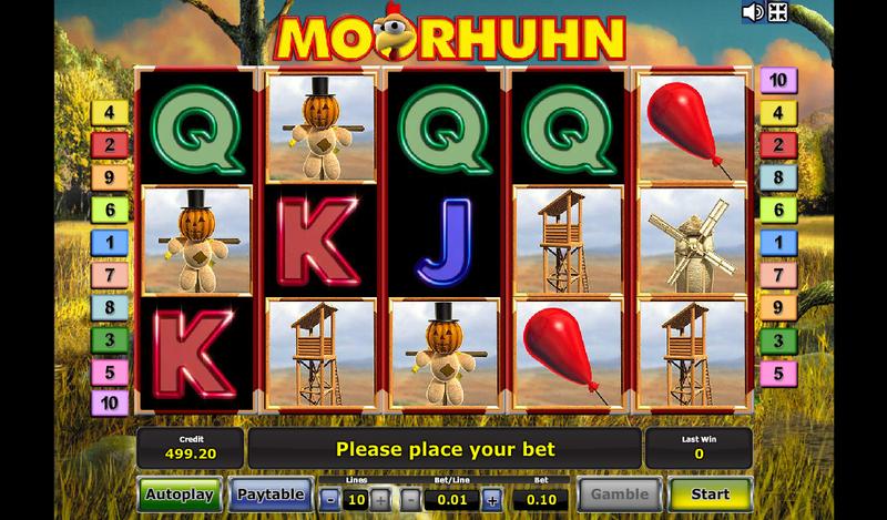 moorhuhn игровой автомат